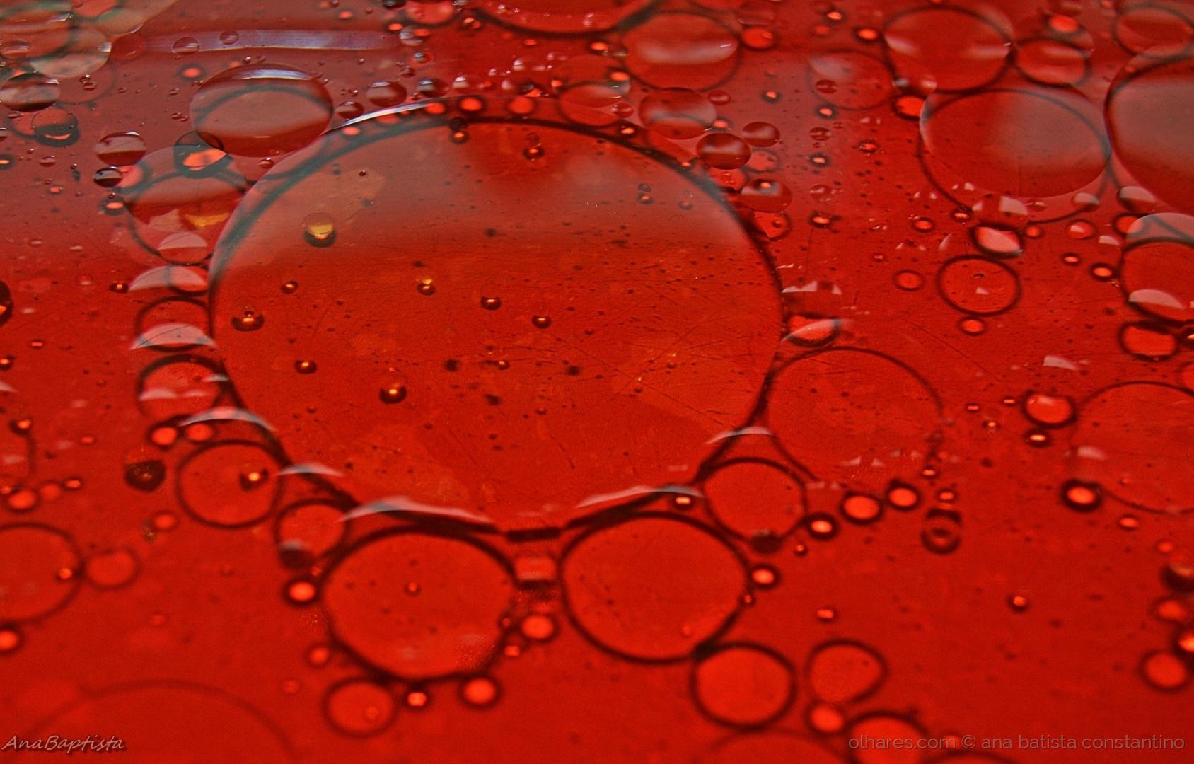 Abstrato/Azeite e água