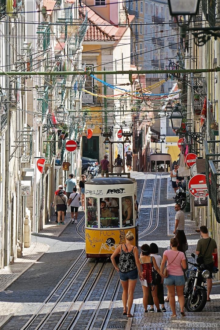 Fotografia de Rua/O movimento na Bica - Lisboa