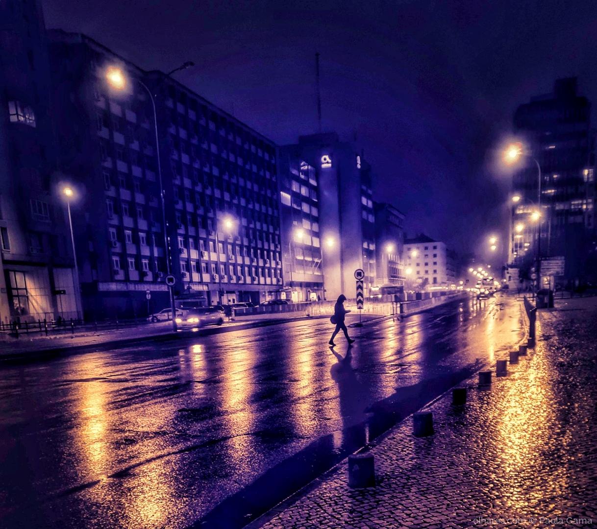 Fotografia de Rua/Quando a noite chega...