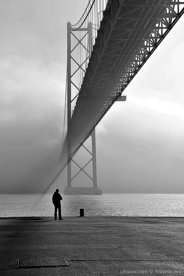 Paisagem Natural/MARAVILHADOS COM O NEVOEIRO NA PONTE -Lisboa