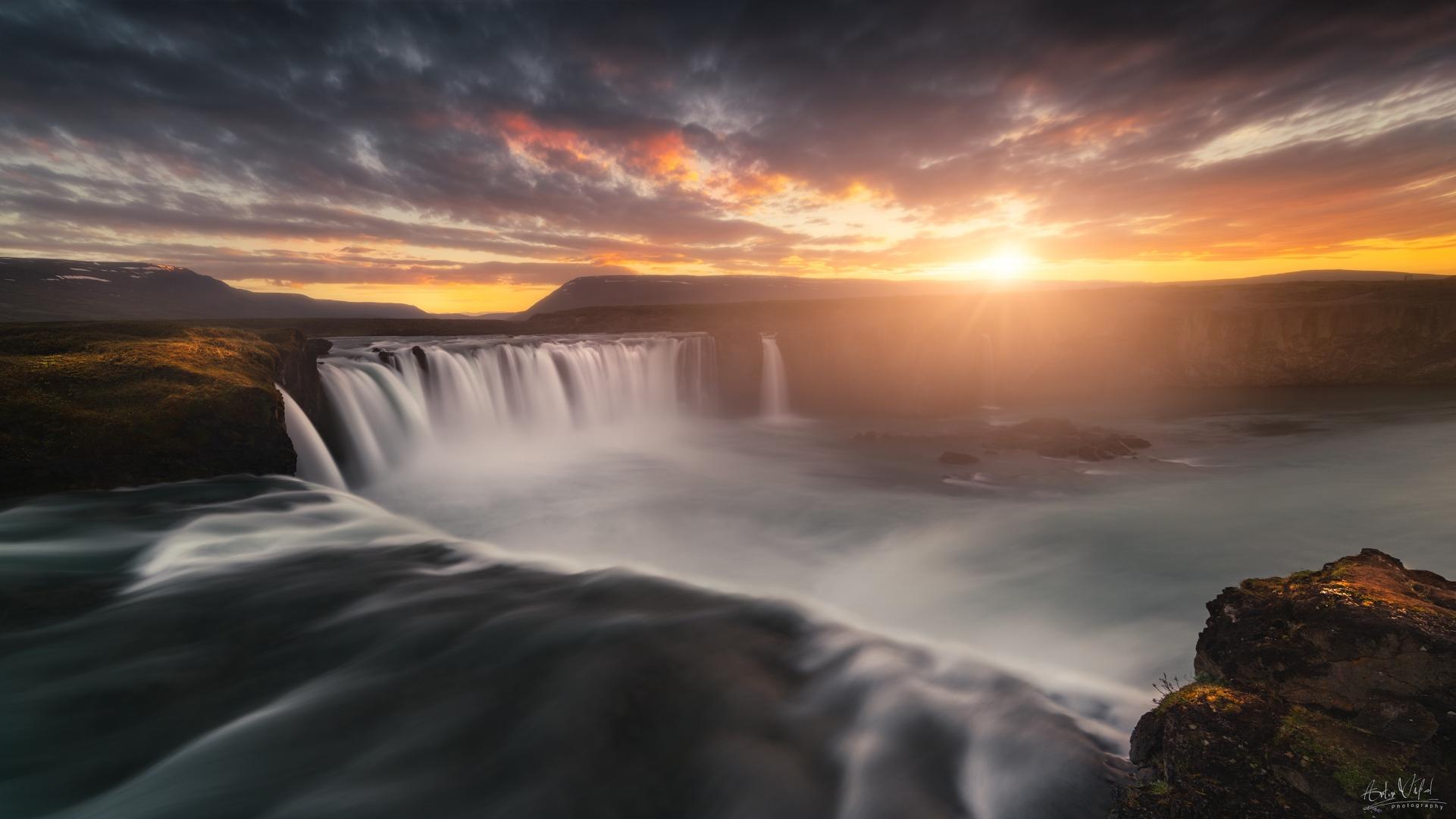 Paisagem Natural/GodaFoss Panorama
