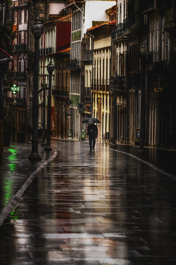 Paisagem Urbana/P'las ruas da cidade molhada