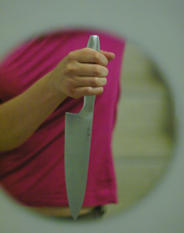 Outros/self portrait with knife