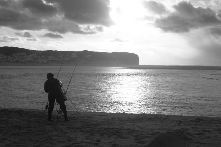 Gentes e Locais/Pescador...P&B.