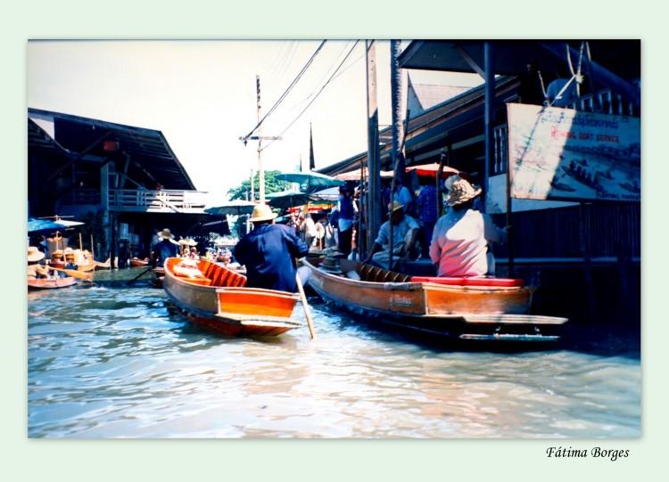 Paisagem Urbana/Mercado flutuante Tailândia
