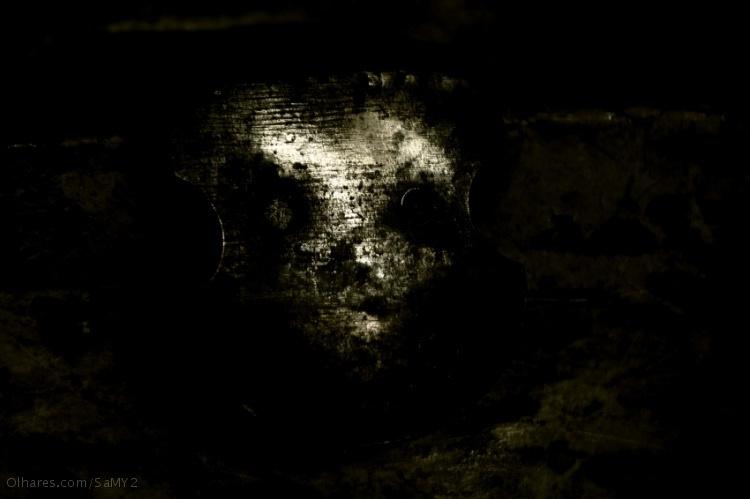 Abstrato/Le visage parcheminé