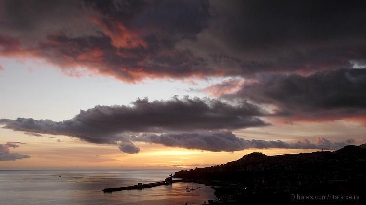 Paisagem Urbana/Funchal ao por do sol
