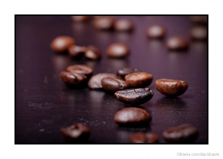 Macro/grãos de café