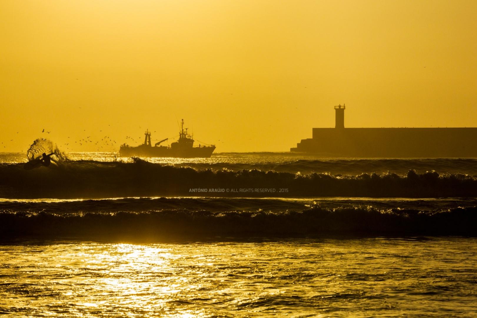 Desporto e Ação/golden hour surf