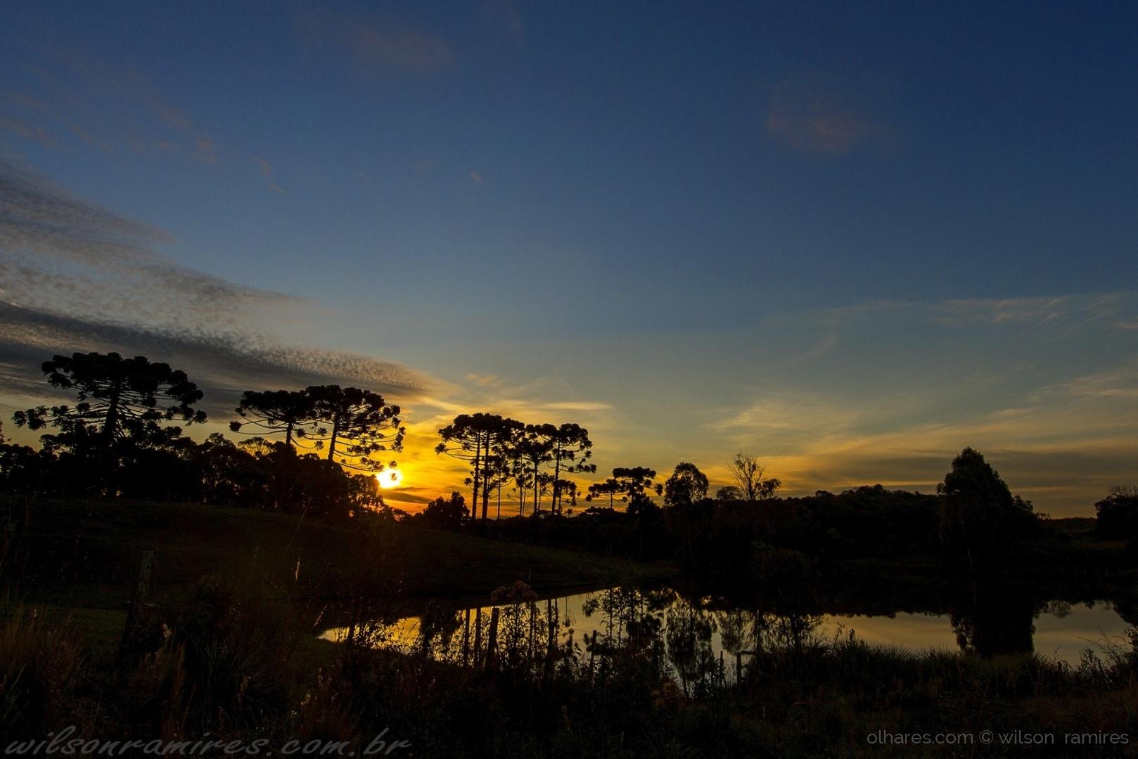 Paisagem Natural/Reflexos do pôr do sol