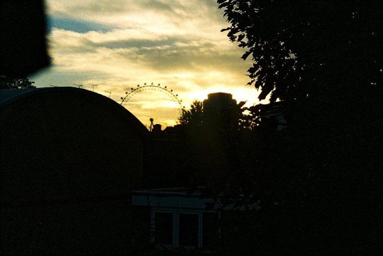Paisagem Urbana/Por do Sol London Eye