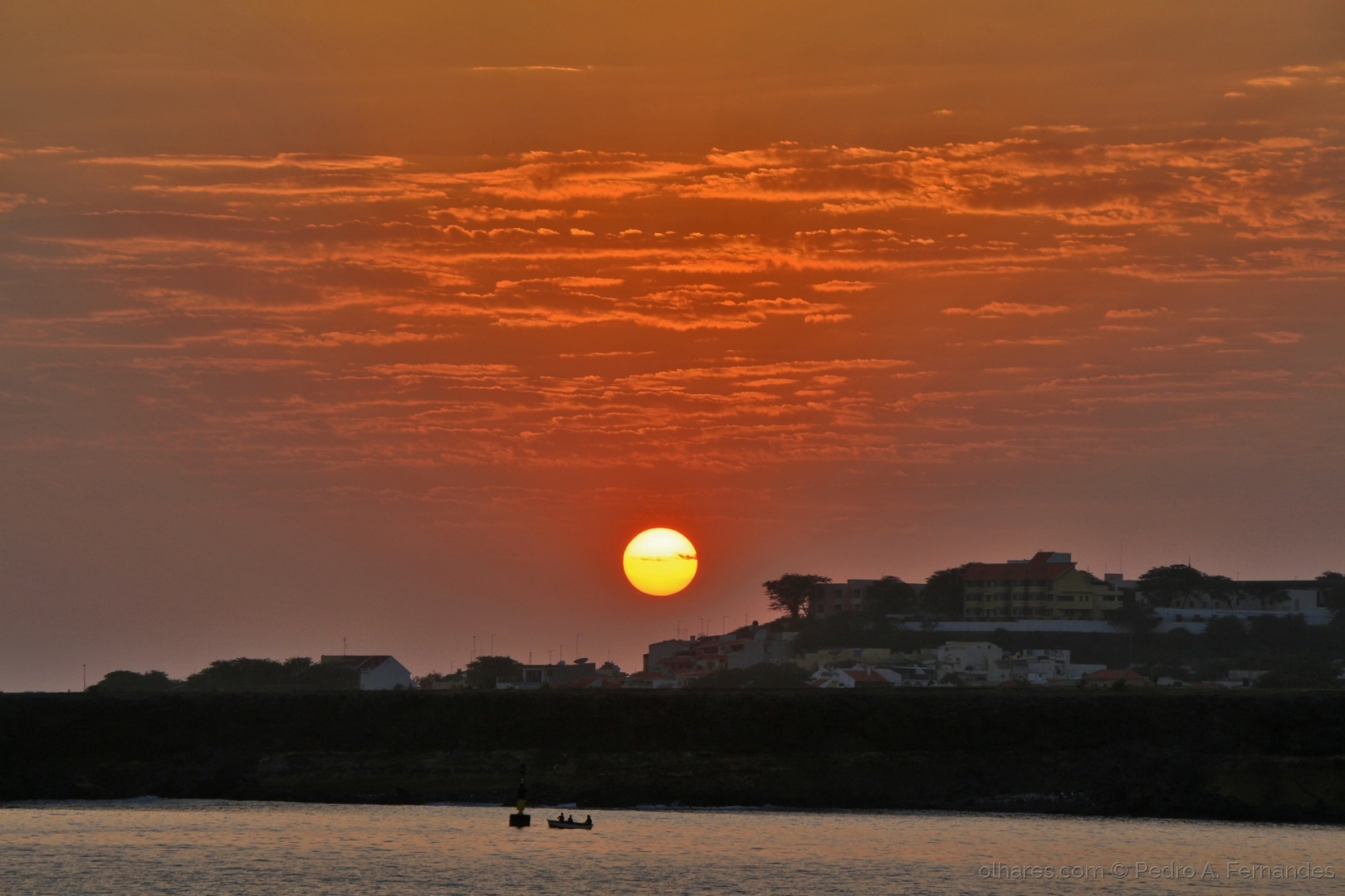 Paisagem Urbana/Pôr do sol Cidade da Praia