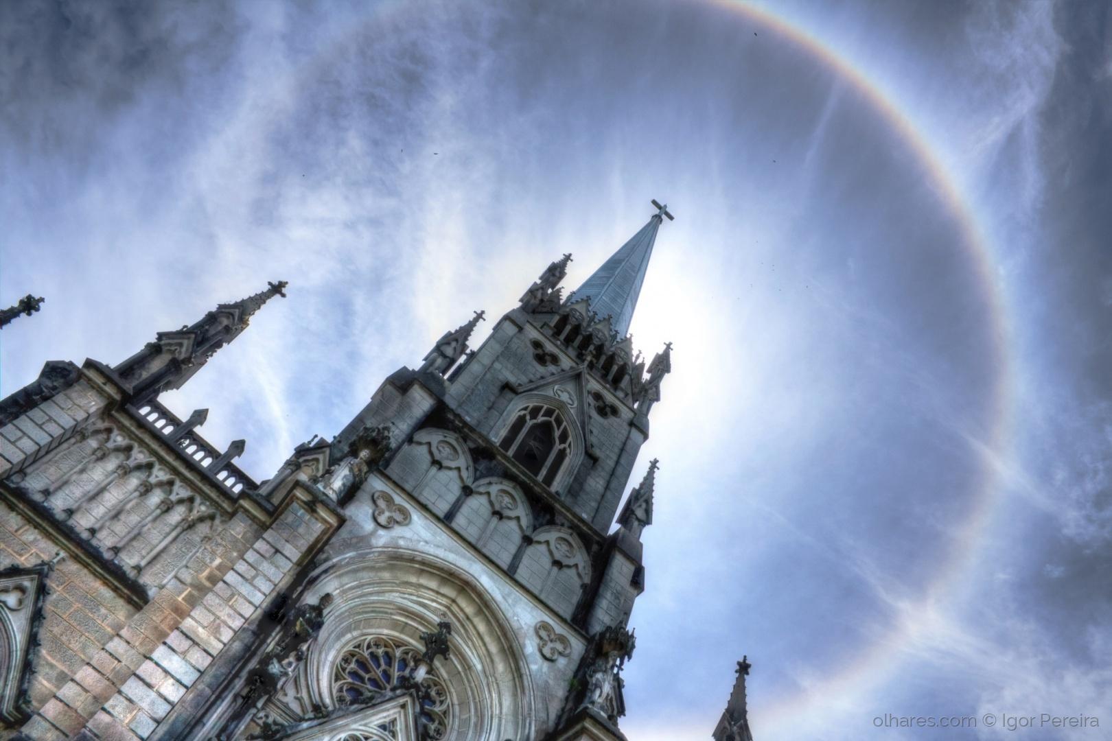 Paisagem Urbana/Cathedral de Petrópolis em Halo Solar