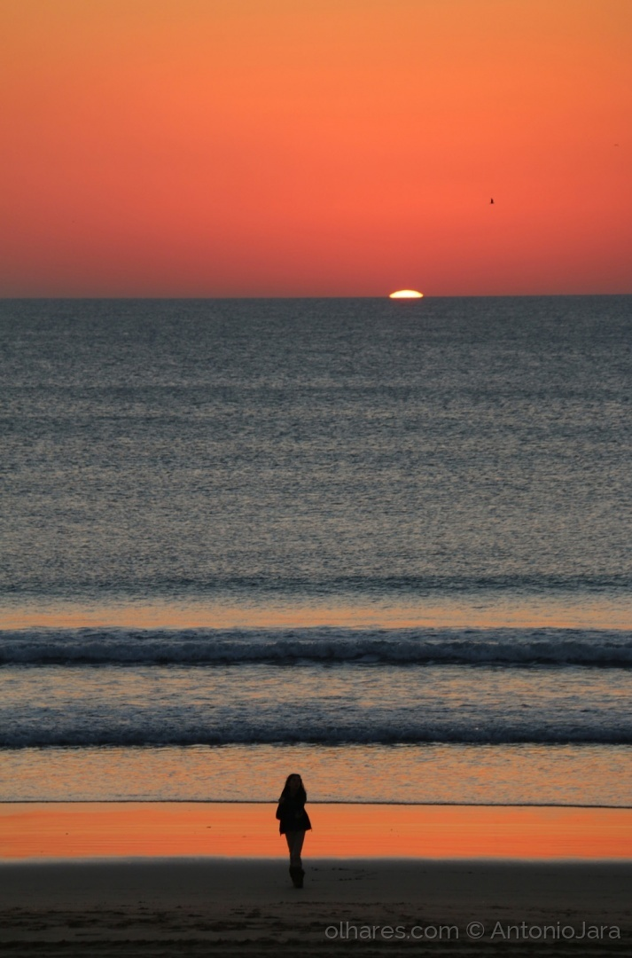Paisagem Natural/Extasiados com o Mar e o Por do Sol