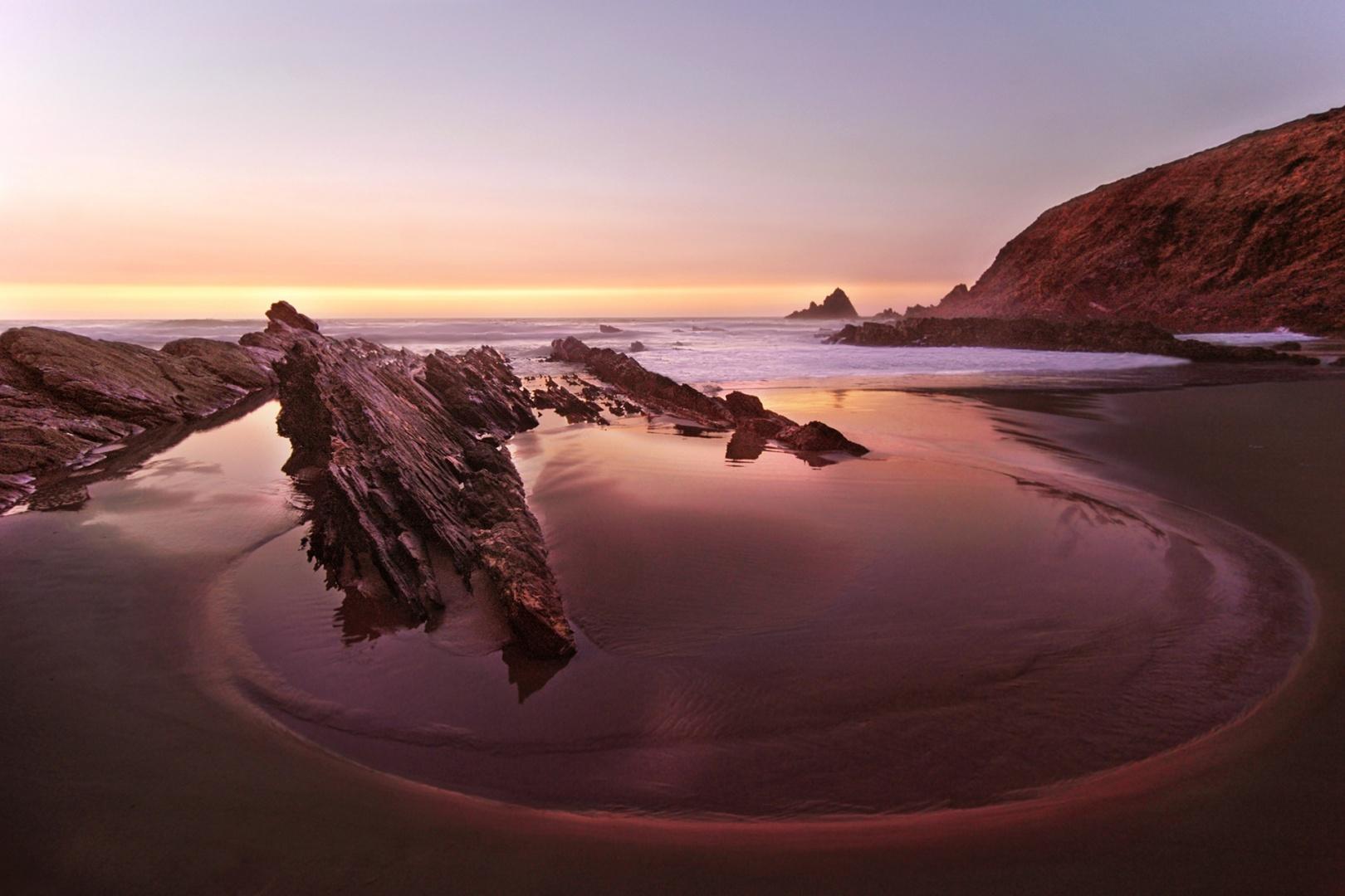 Paisagem Natural/A praia no crepúsculo