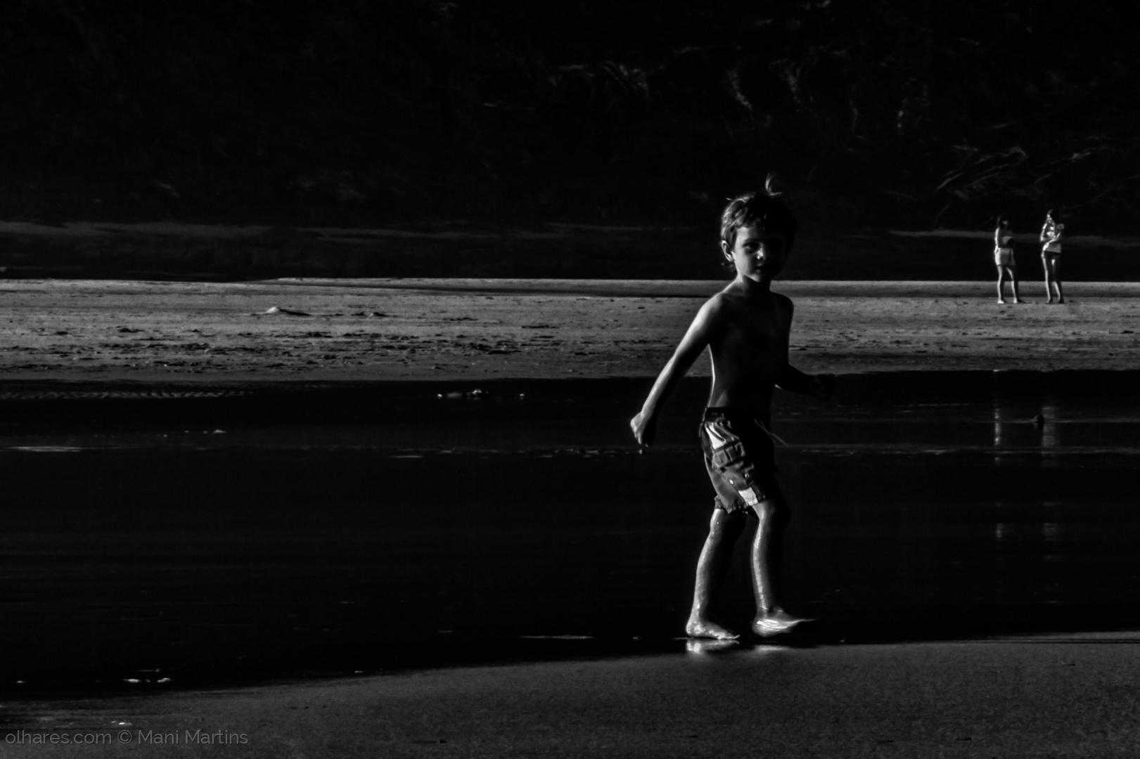 Paisagem Natural/o menino e o mar