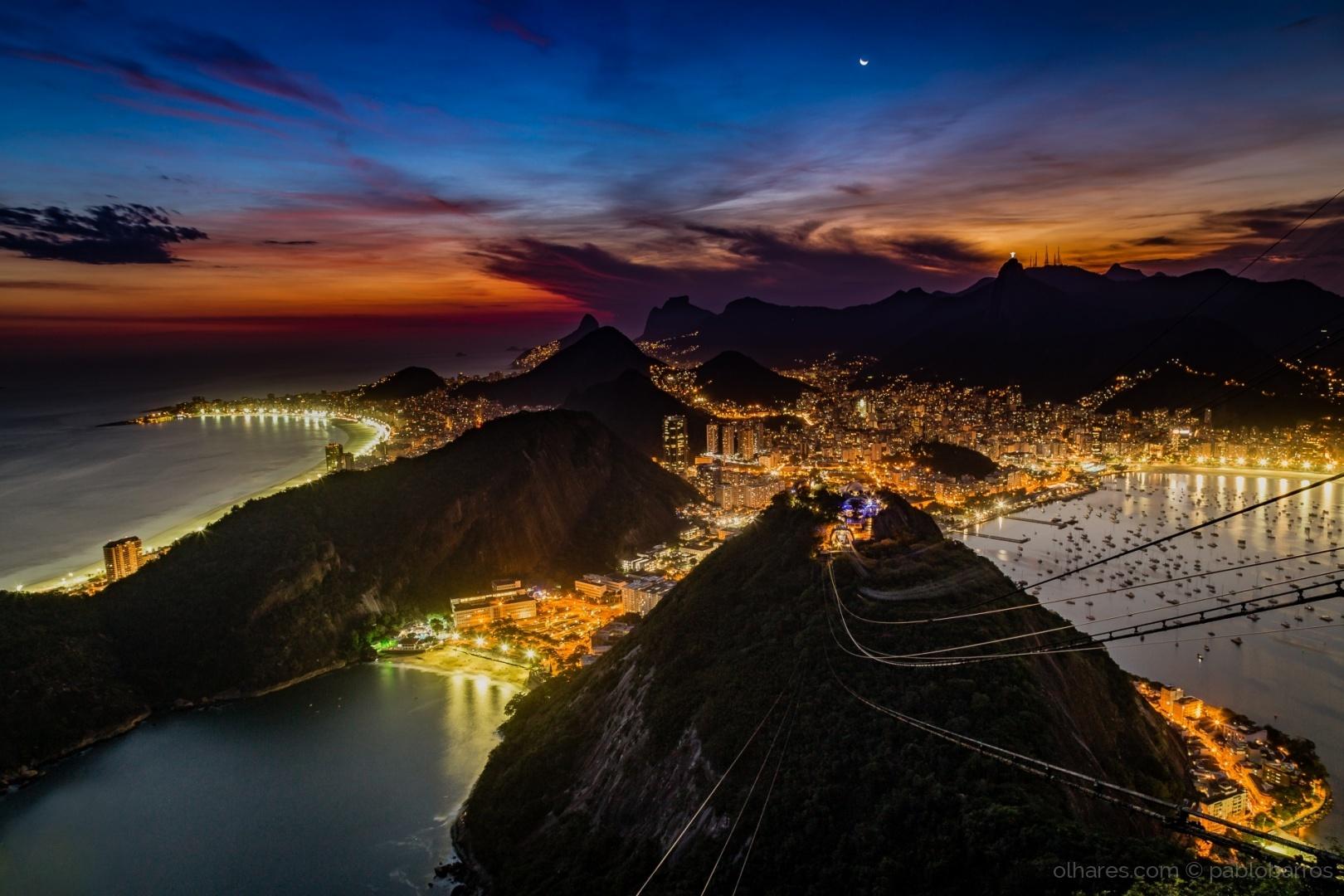 Paisagem Urbana/Rio de Janeiro na Hora Azul