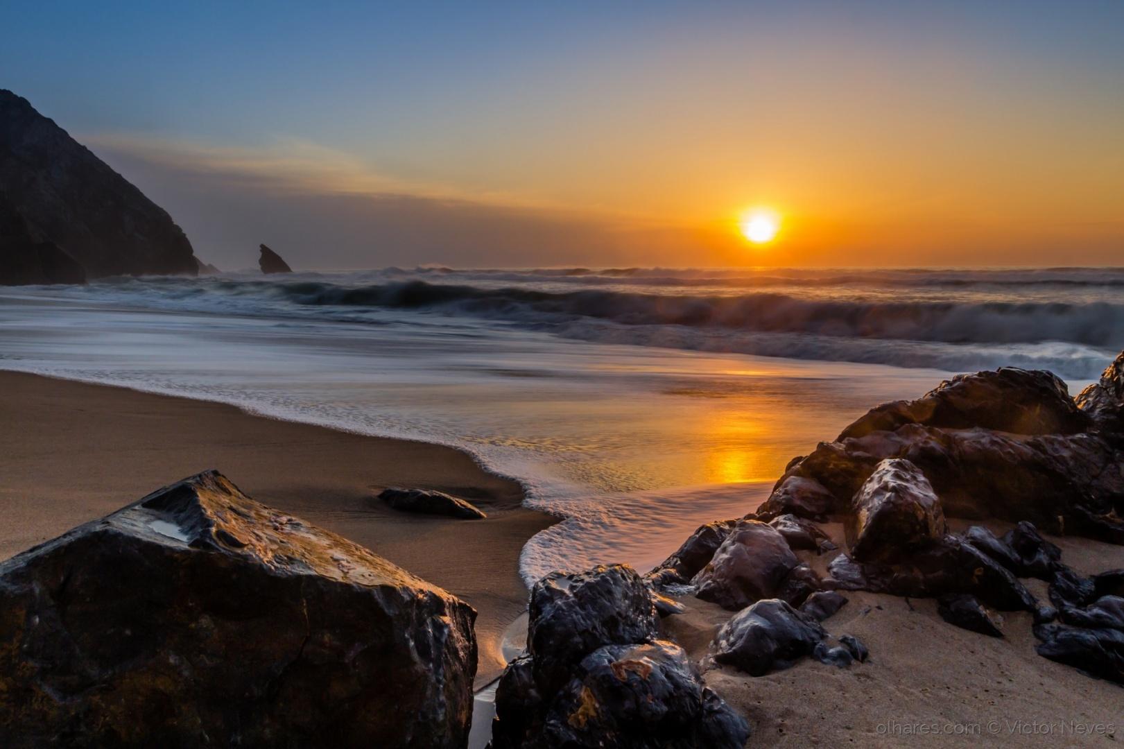 Paisagem Natural/Pôr-do-sol na praia da Adraga