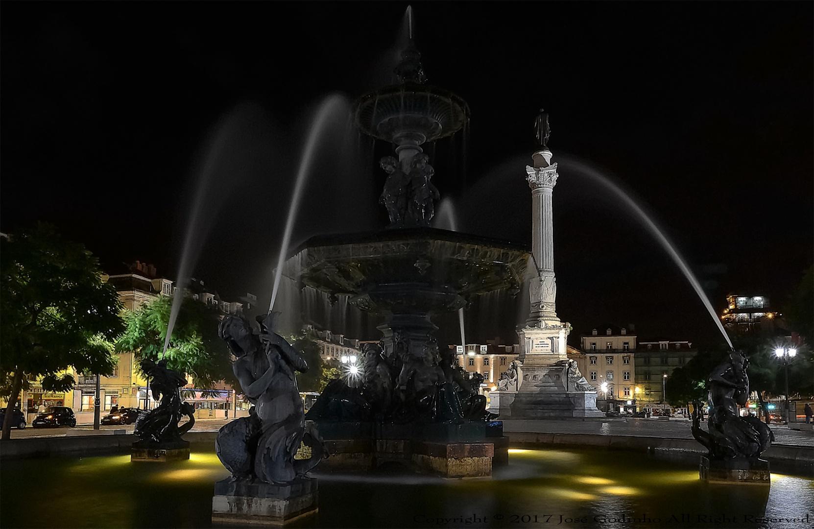 Paisagem Urbana/Fonte no Rossio - Lisboa