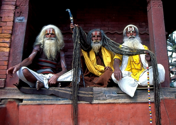 Gentes e Locais/Sadhus em Kathmandu - Nepal