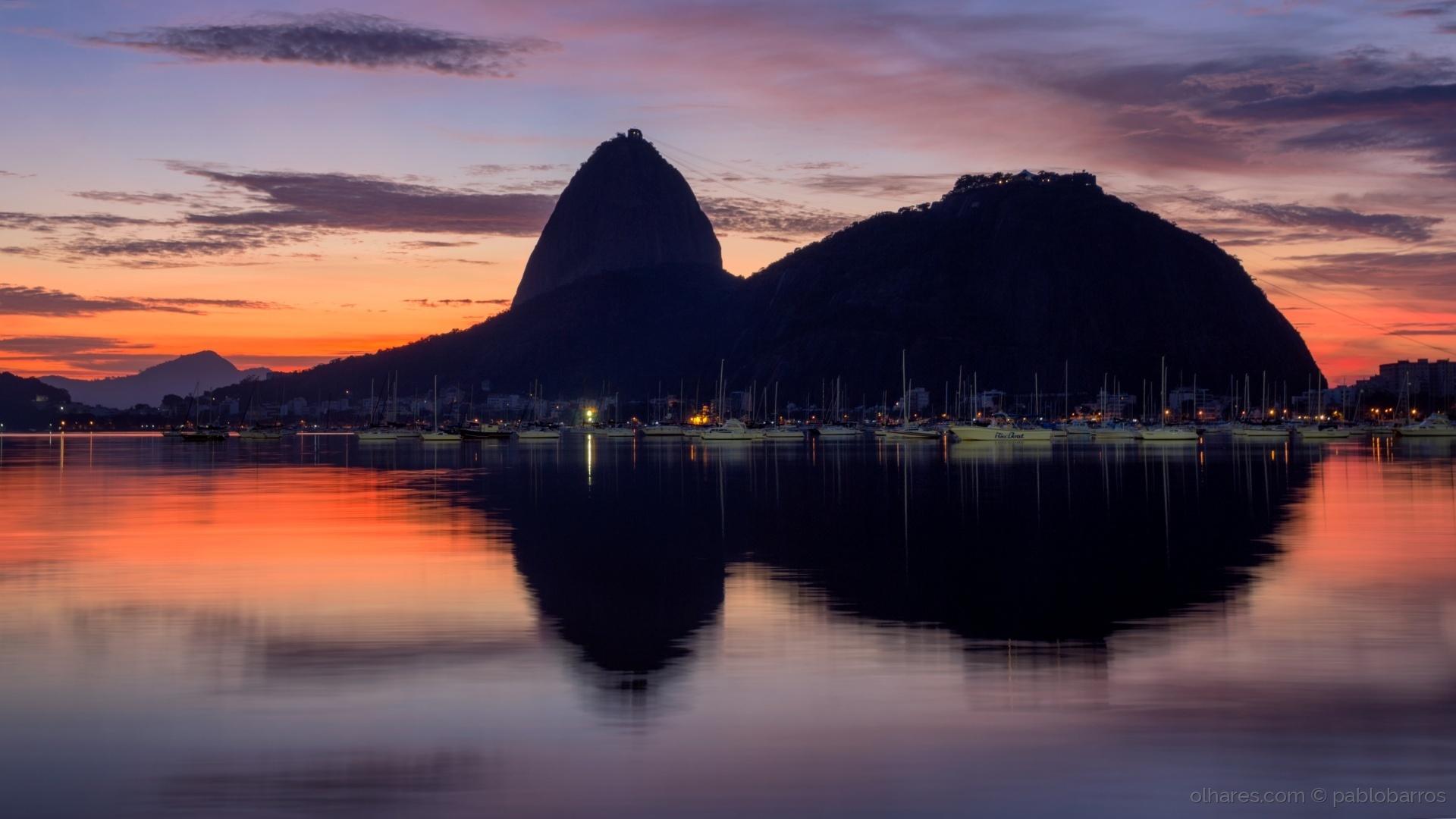 Paisagem Urbana/Nascer do Sol na Praia de Botafogo