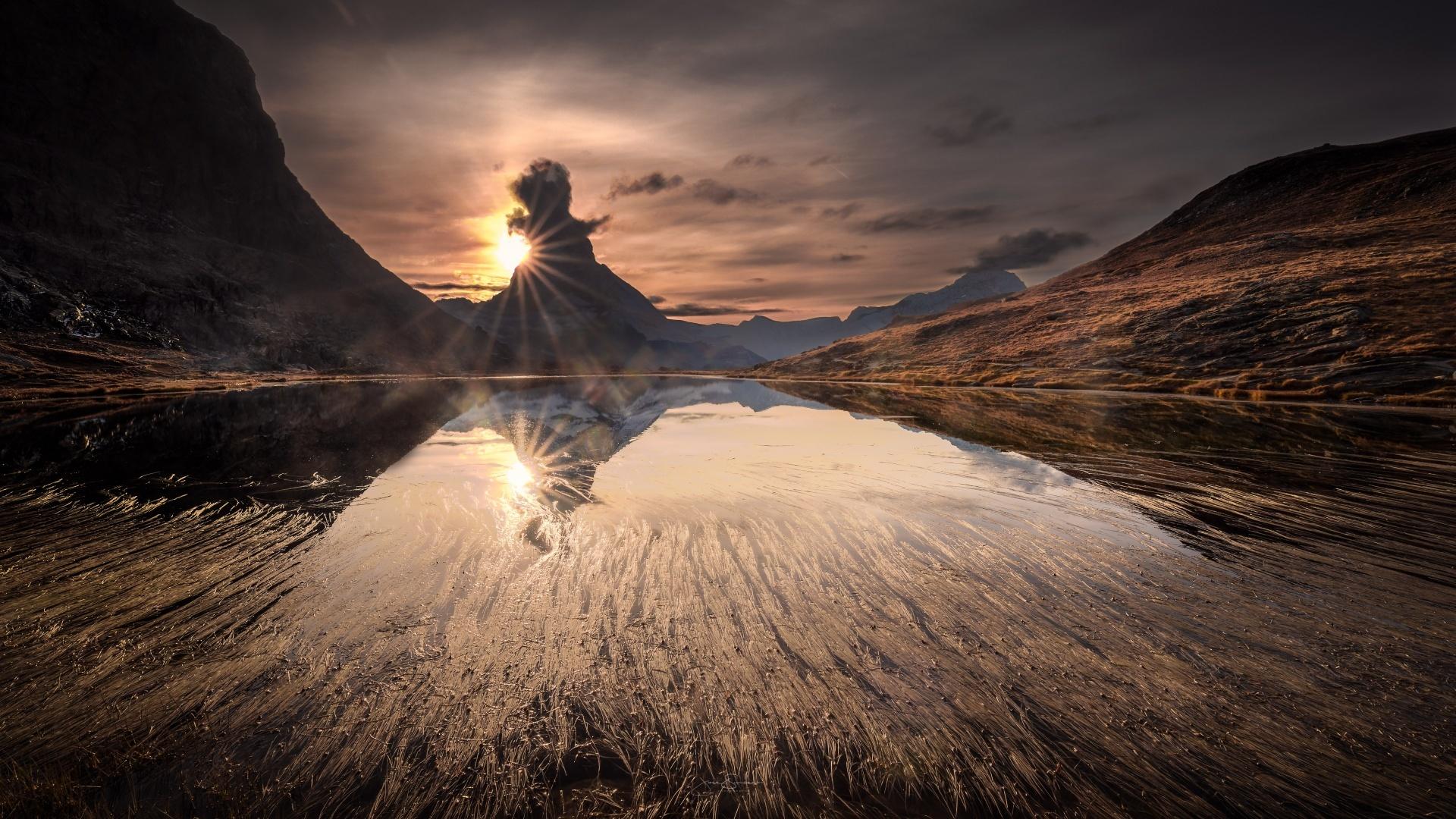Paisagem Natural/Matterhorn no Outono