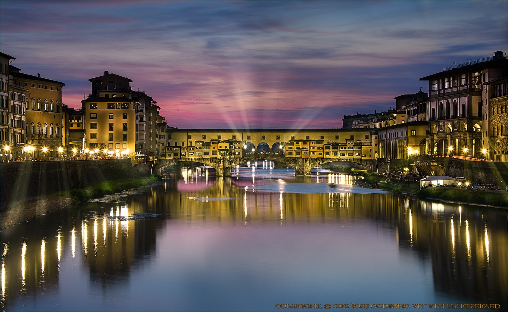 Paisagem Urbana/Ponte Vecchio - Florença
