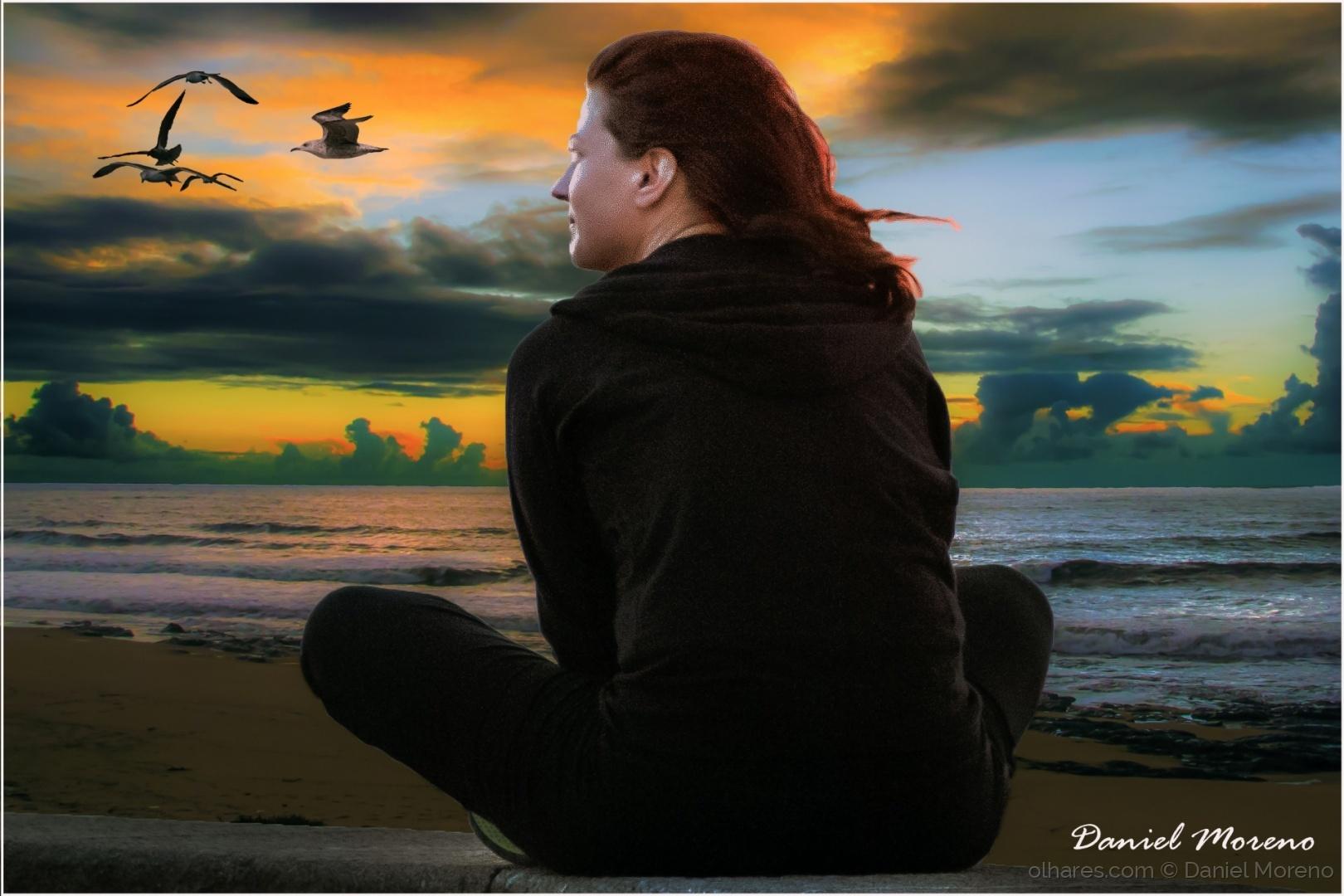 Arte Digital/Olhando as gaivotas