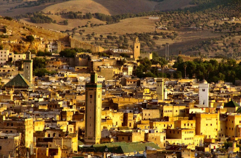Paisagem Urbana/Pôr do sol em Fez