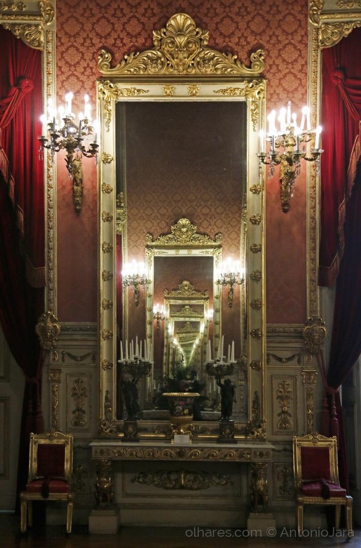 História/Espelhos - Palácio da Ajuda ( Lisboa )