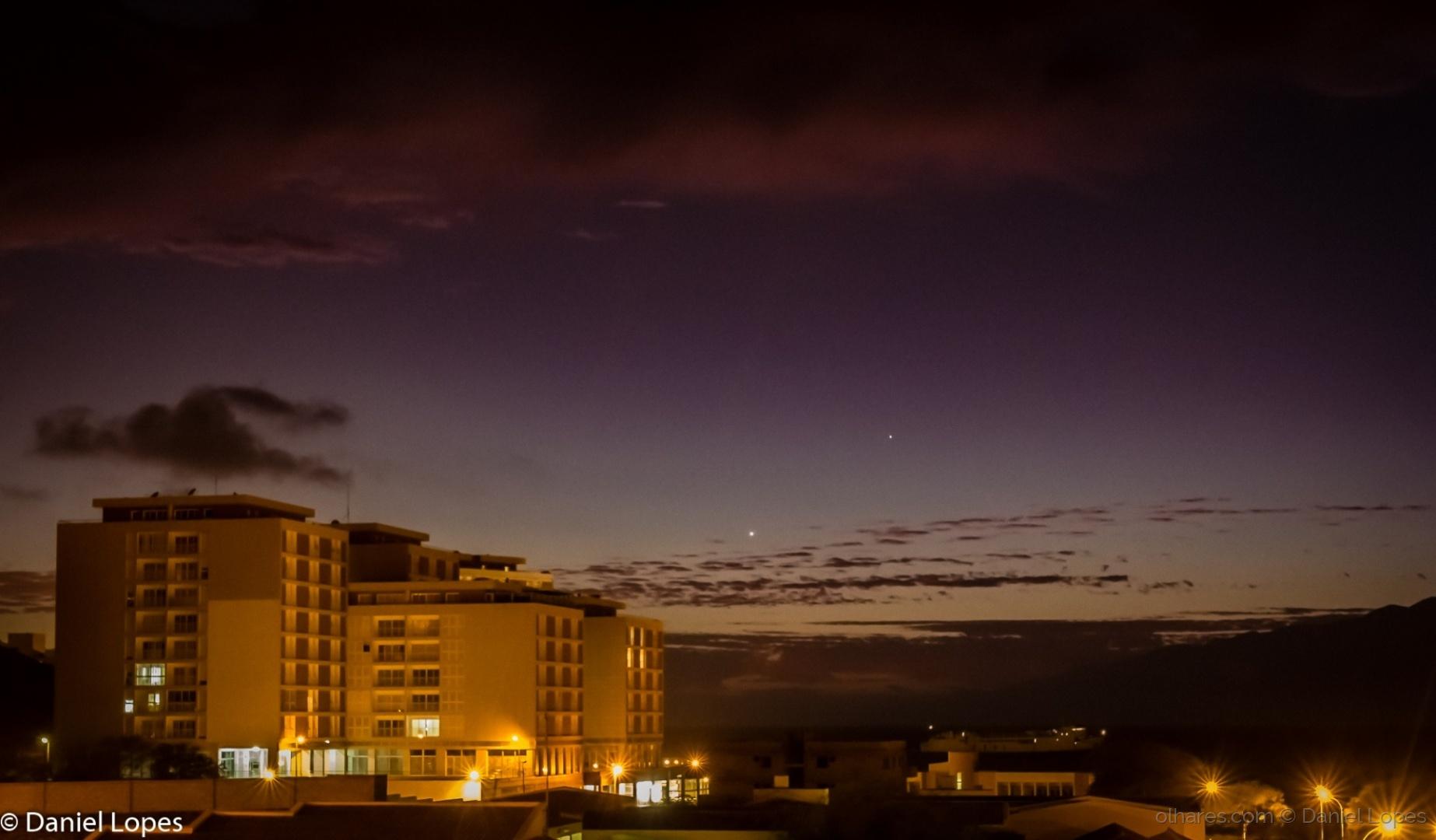 Paisagem Natural/Vénus e Mercurio no céu de Mindelo