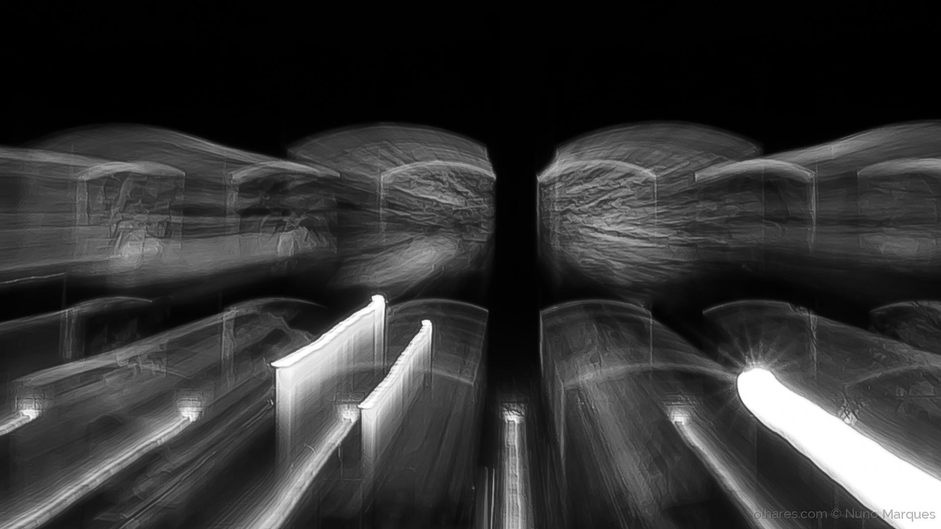 Abstrato/Túneis de luz