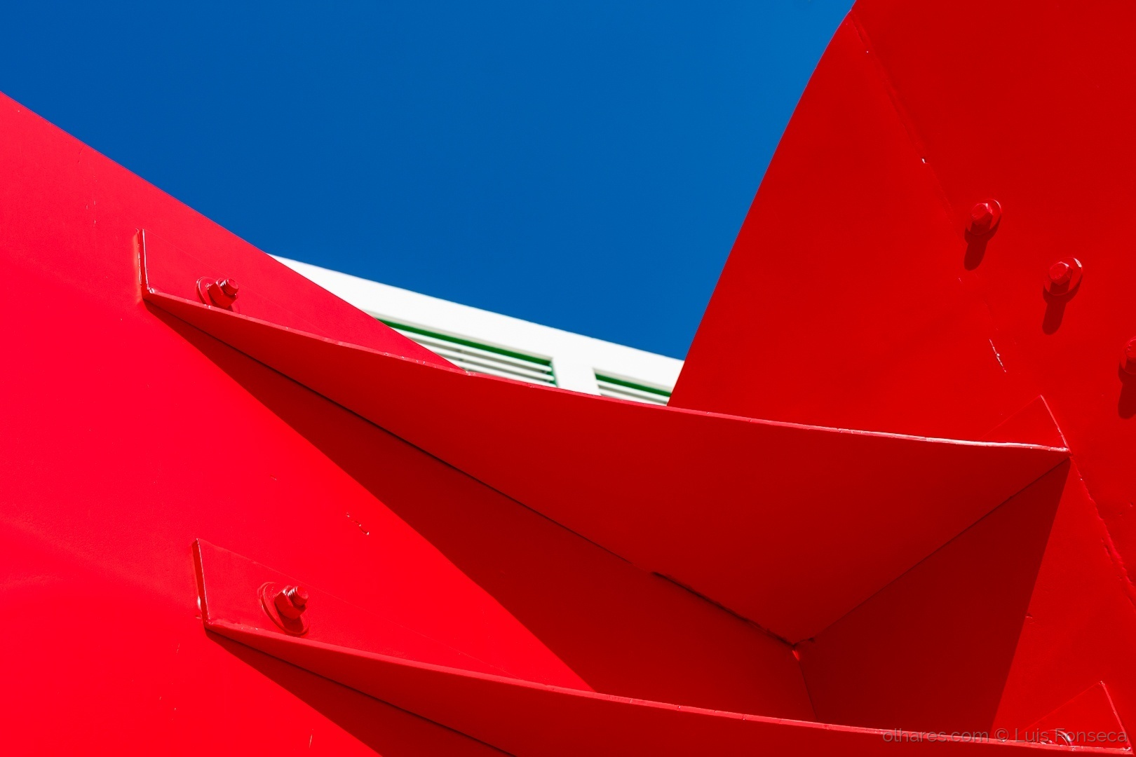 Abstrato/Red White and Blue