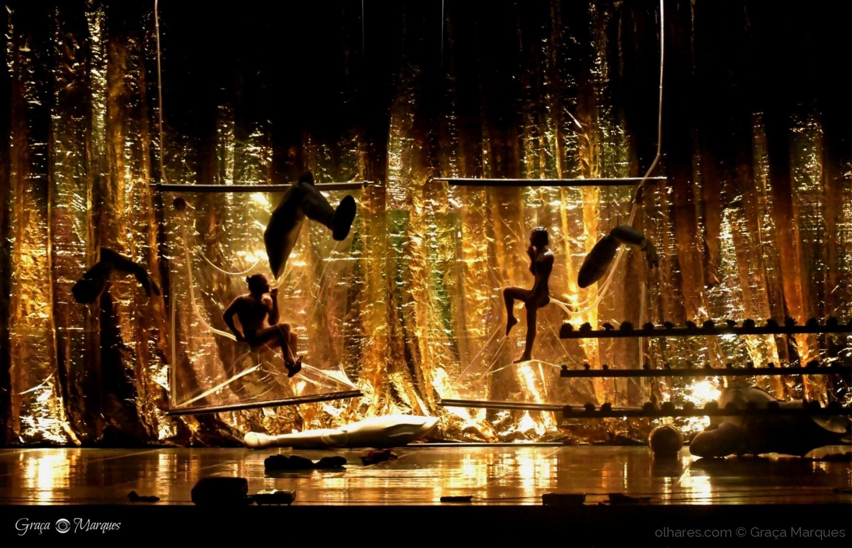 Espetáculos/ Apenas eles estavam no palco !