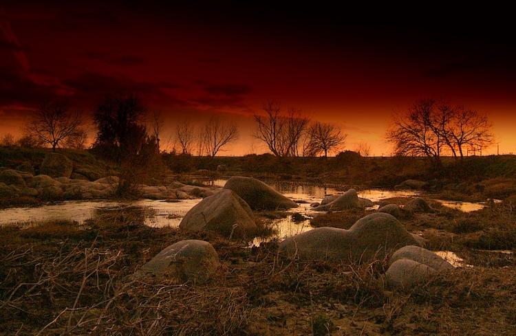 Paisagem Natural/Pedras da ribeira