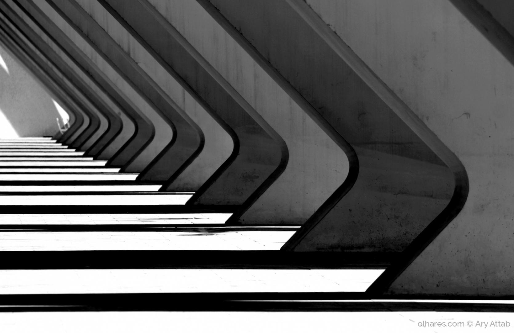 Arquitetura/Concreto, Aço, Pilares. Magia de Calatrava.