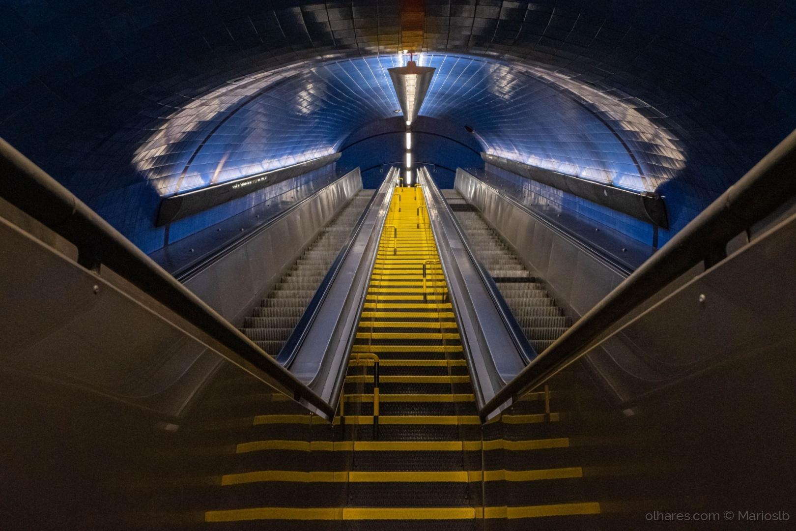 Paisagem Urbana/escadas para o céu