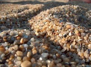 /areia da praia da aguda