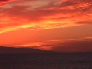 /por do sol no mar da Travessa