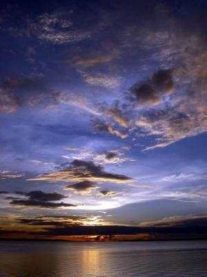 /Pôr-do-sol no Rio Negro - Amazonas