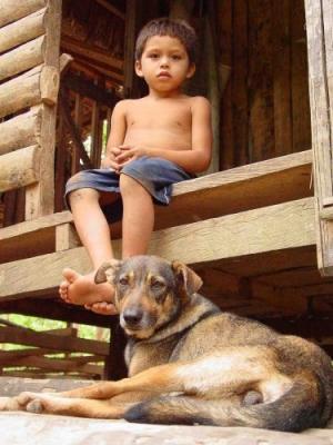 /O menino e o cachorro