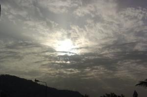 /O nascer do sol...