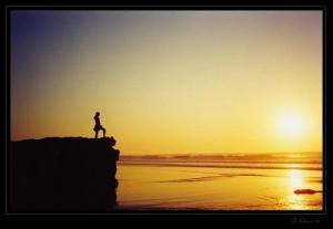 /Por-do-sol na praia do Magoito