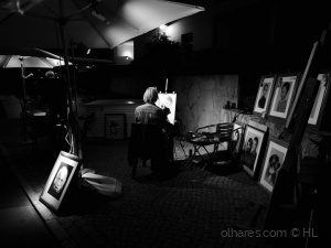 Retratos/the painter in the street