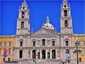 Arquitetura/FACHADA da BASÍLICA-PALÁCIO NAC. de MAFRA