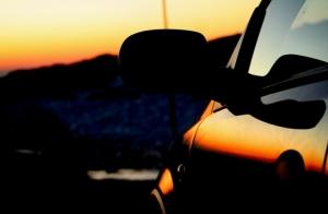 Macro/Pôr-do-sol no carro!