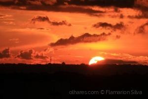 Paisagem Natural/Luzes do Sol ao cair da noite