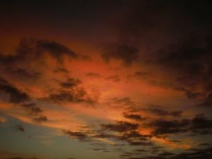 Paisagem Natural/Céu vermelho