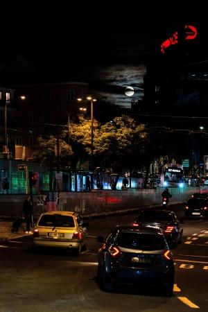 Paisagem Urbana/Lua cheia em Lisboa