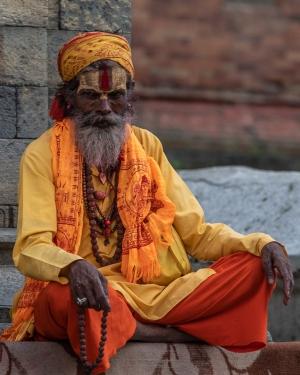 Retratos/Sacerdote Nepalês